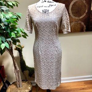 Light Beige Elegant Mini Dress